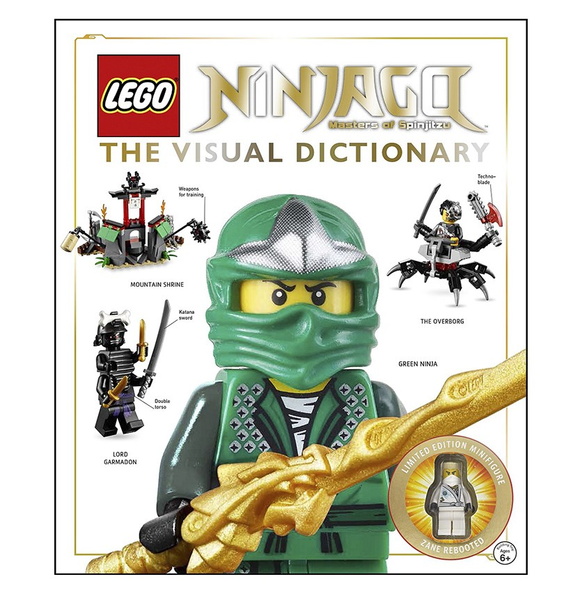Ninjago The Visual Dictionary: Includes Zane Rebooted Minifigure, White/Green
