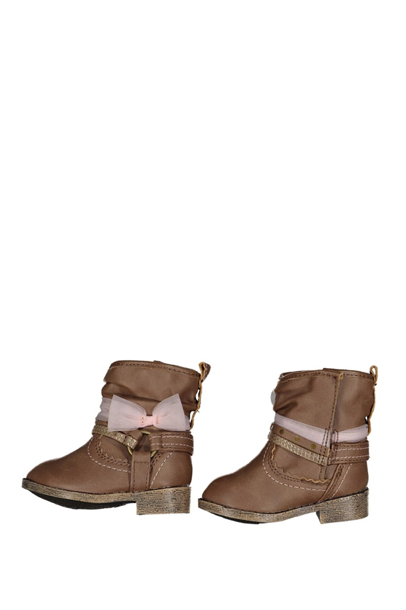 Little Girls Sarah-Jayne Elloise Boot, Tan