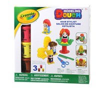 Crayola Large Hairstylist Modeling Dough Playset, Pink/Yellow/Brown