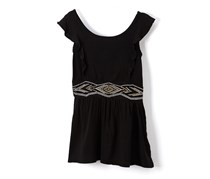 Kensie Kids Girl Embroidered Dress, Black