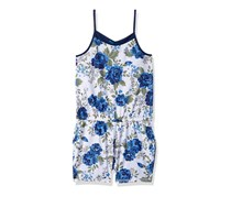 Diesel Sleepwear Girls Big Nightgown Romper, Blue Floral