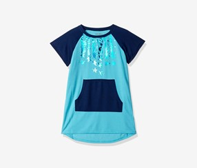 Diesel Girls French Terry Nightgown, Blue