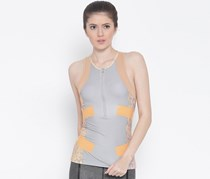 Running Techfit By Stella Mccartney Top, Pearl Grey/Soft Powder