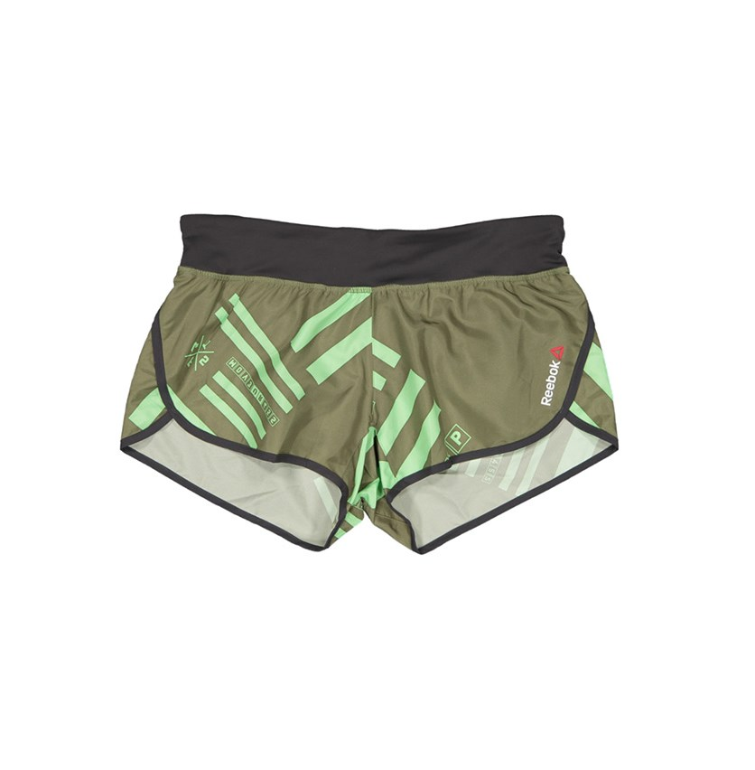 Women's Training Shorts, Olive Combo