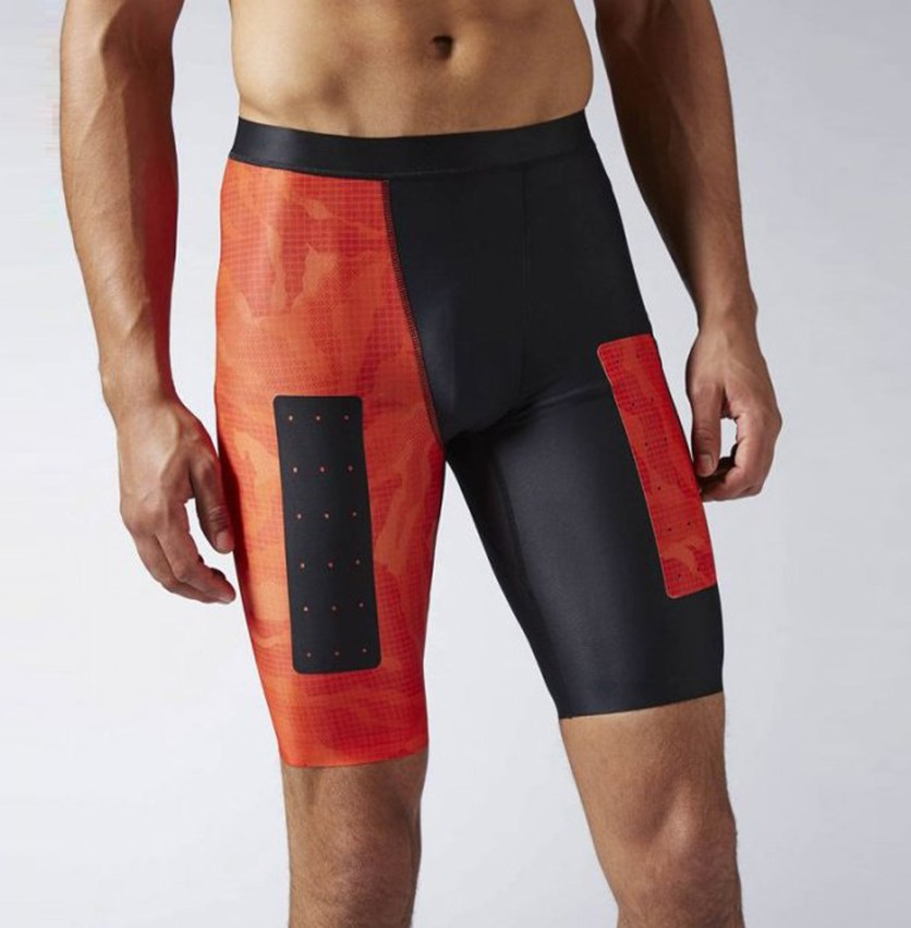 Crossfit Compression Short, Orange/Black