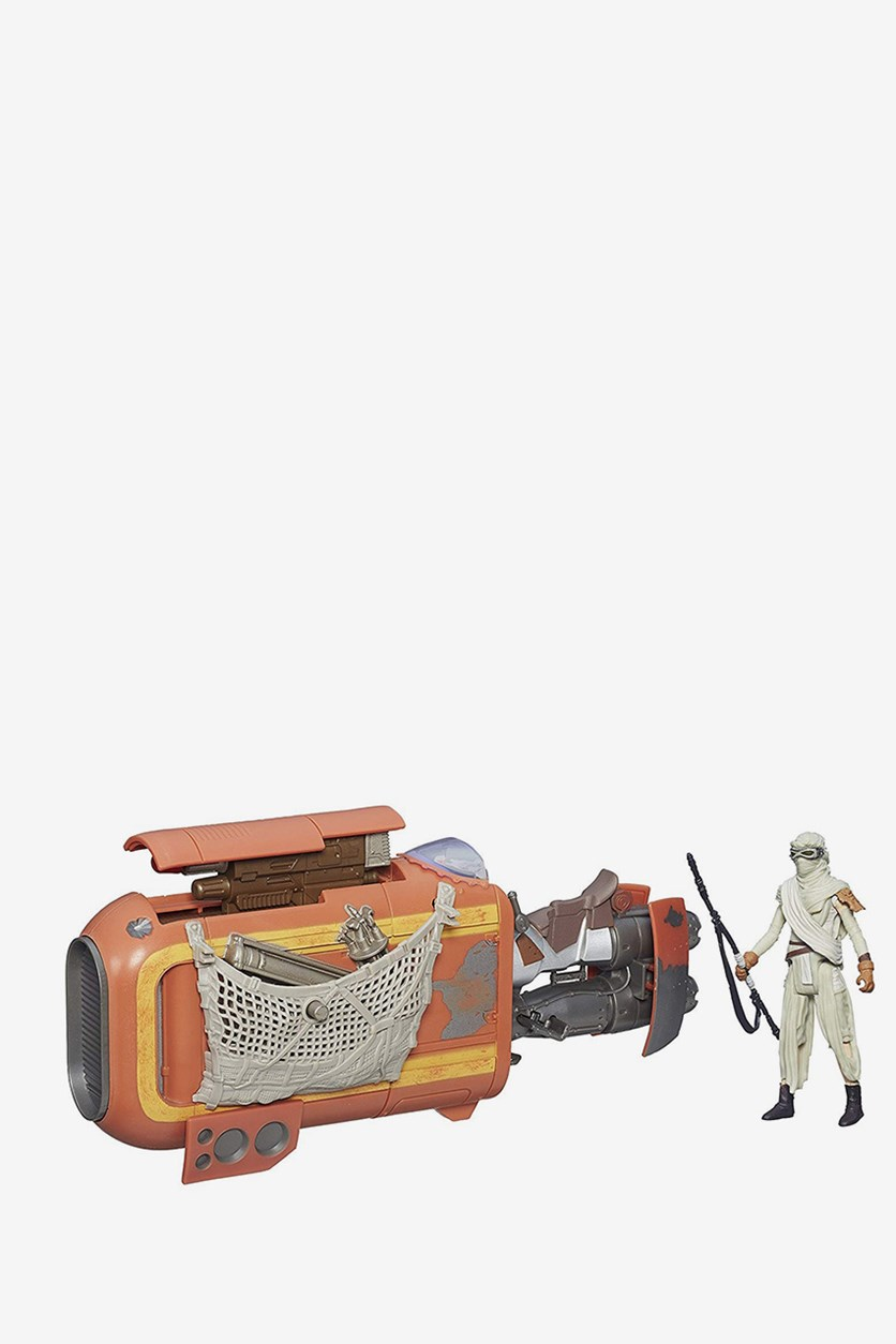 The Force Awakens 3.75-inch Vehicle Rey's Speeder Bike (Jakku), White/Red Combo
