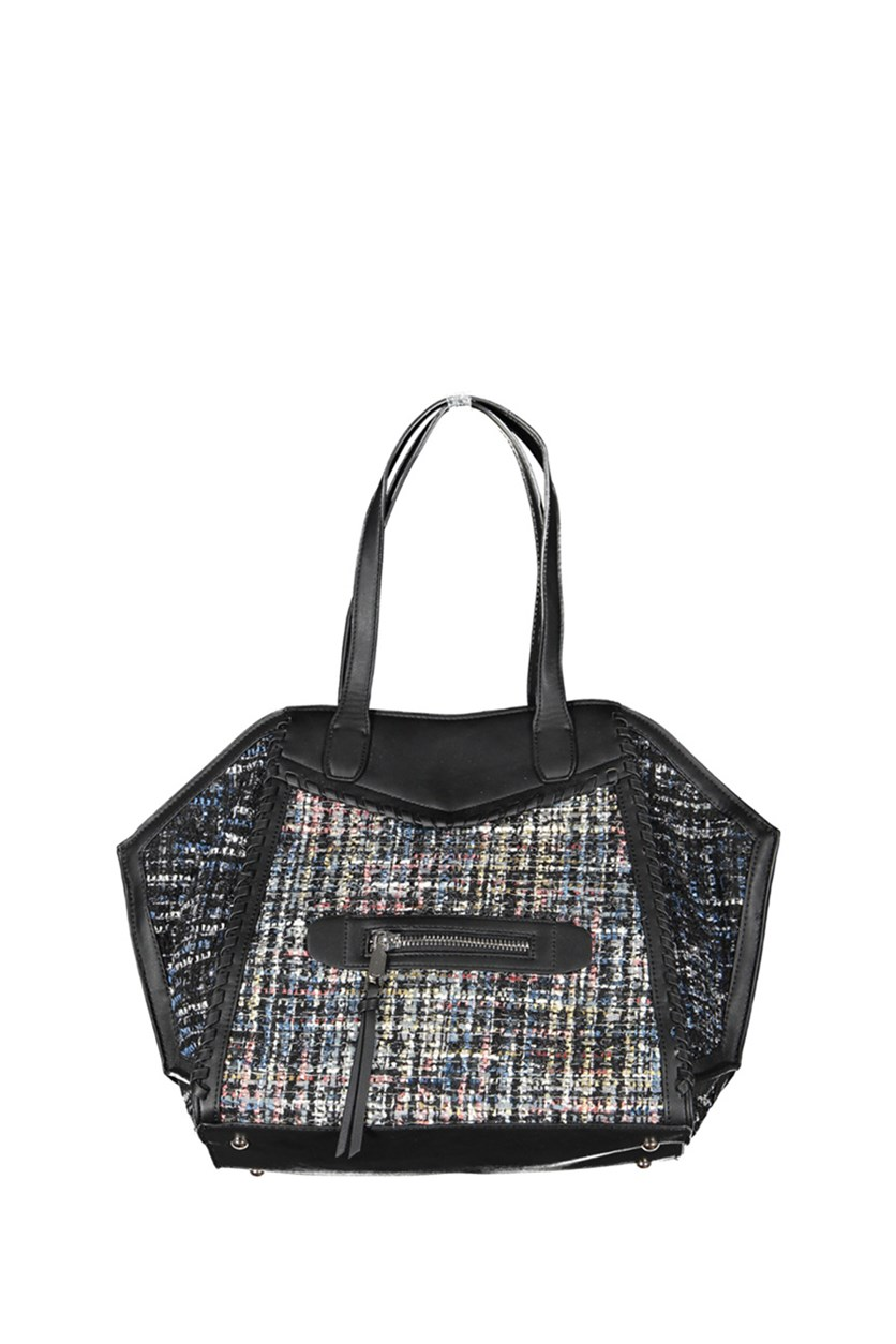 Aubry Tote, Black/Pink Combo