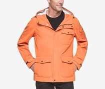 G.H. Bass & Co. Men's Hooded Rain Jacket, Orange