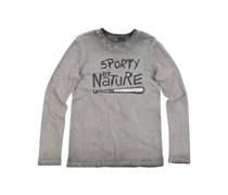 Butter Super Soft Sporty Graphic Long Sleeve T-Shirt, Grey