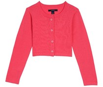 Nautica Girl's Cropped Cardigan, Pink