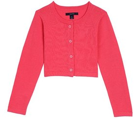 Nautica Baby Girl's Cropped Cardigan, Pink