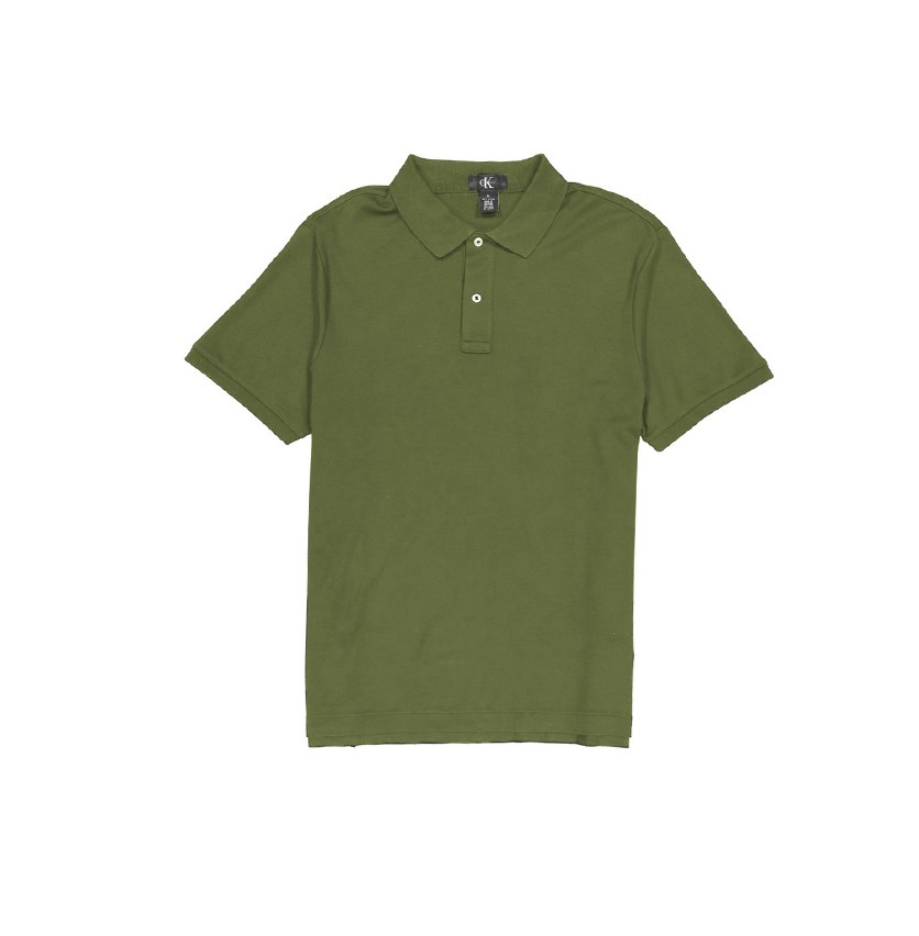 Men's Lifestyle Soft Cotton Polo Shirts, Olive