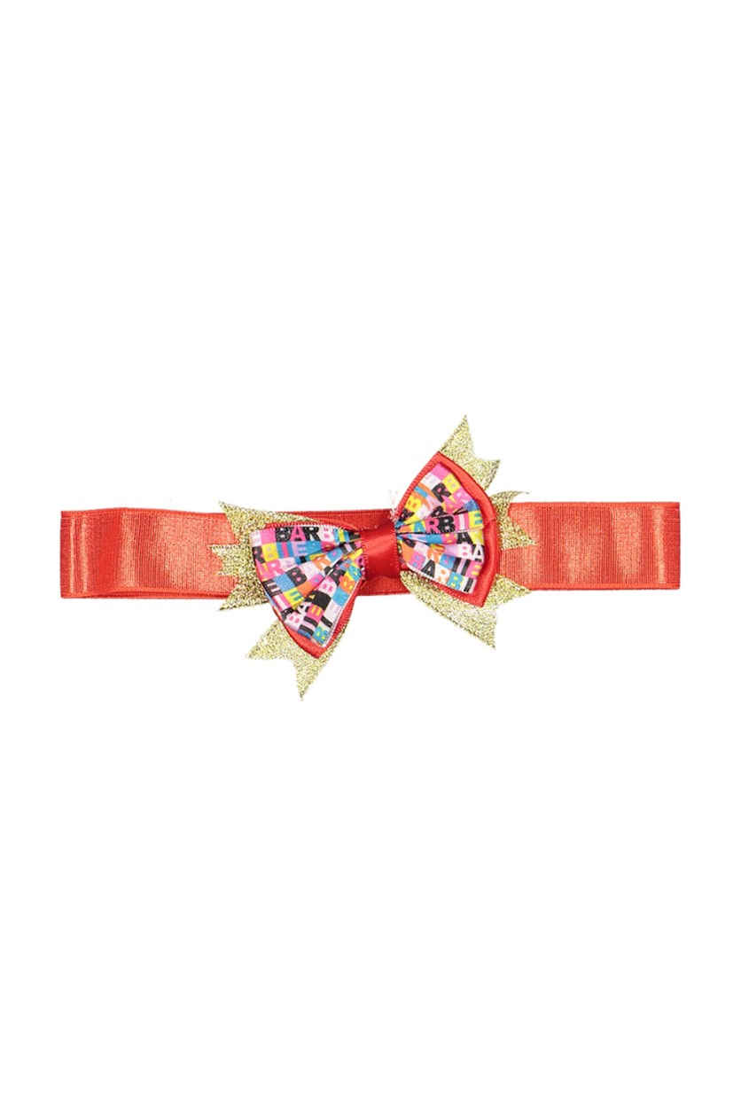 Thick Soft Headband With Bow, Red