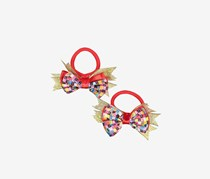 Barbie 2 Pony Bow Holder, Red/Gold