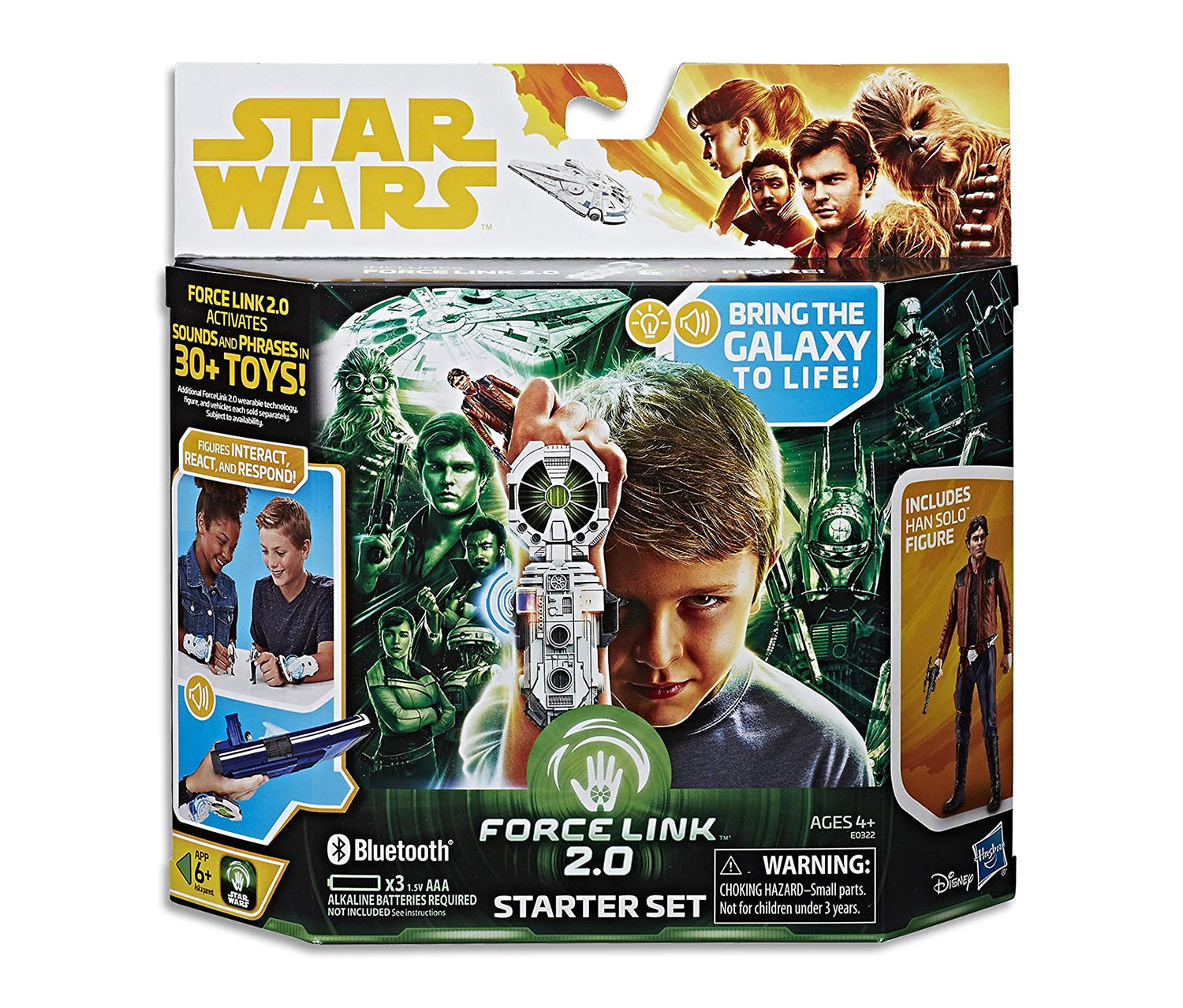 Star Wars Force Link 2.0 Starter Set including Wearable Technology, Green Combo