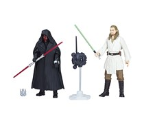 Star Wars By Hasbro Swu Darth Maul and Quigon Jinn Figure, Black
