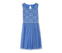 Speechless Toddler Lace Dress, Blue