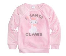 Cold Crush Little Girls' Evy of California Santa Claws Sweater, Light Pink