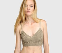Free People Women's Lace Cropped Bralette, Taupe