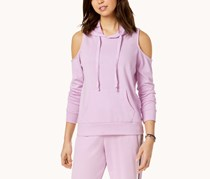 Juniors' Cold-Shoulder Hoodie, Purple