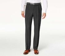 Haggar Mens Classic-Fit Repreve Stria Pants, Charcoal