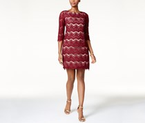 Jessica Howard Lace Illusion Sheath Dress, Burgundy