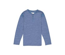 Sovereign Code Baby Boys Long Sleeve Henley Sweaters, Heather Blue
