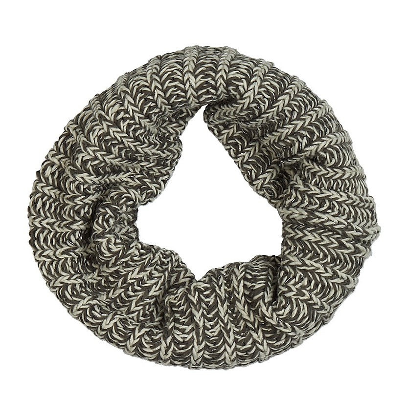 Women's Textured Scarf, White/Green