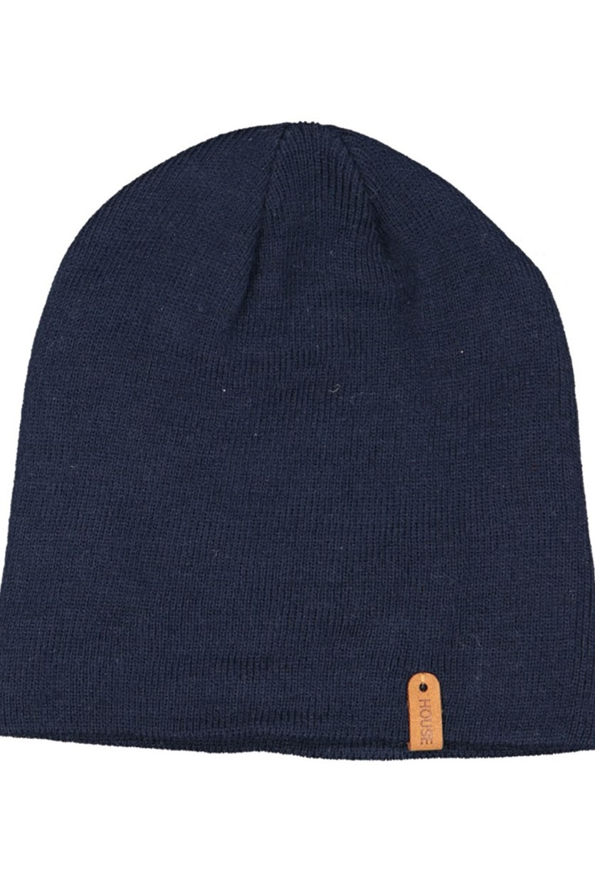 Men's Plain Beanie, Navy