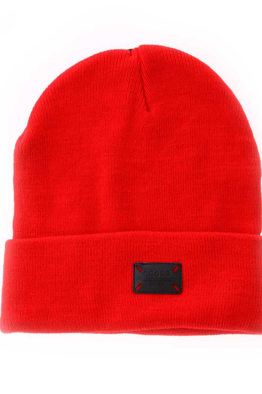 Men's Plain Beanie, Red