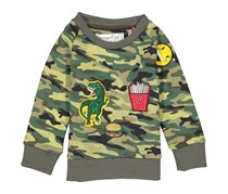Sovereign Code Toddlers Long Sleeve Sweaters, Olive/Green