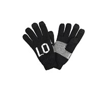 House Women's Tectured Gloves, Black