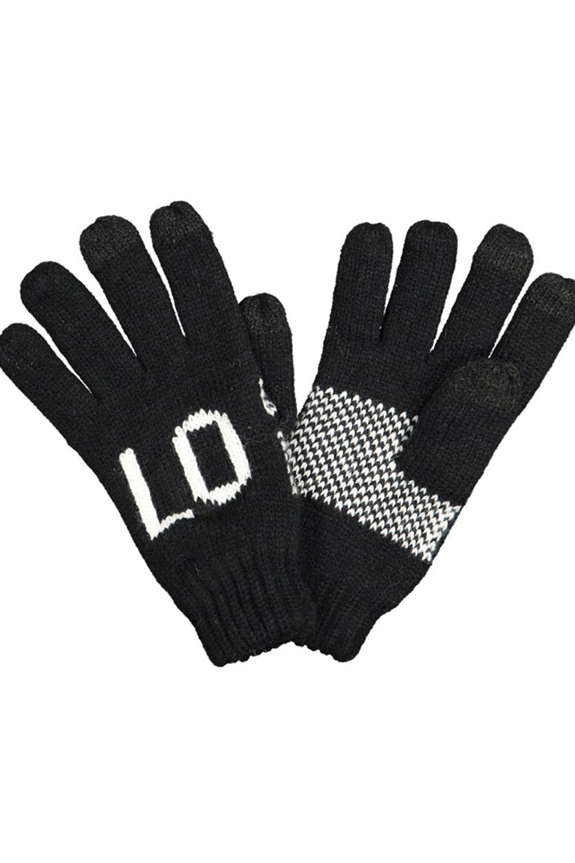 Women's Tectured Gloves, Black