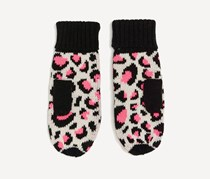 Chillin Women's Printed Gloves, Black/Pink