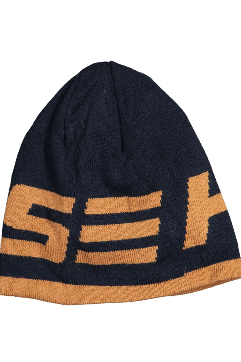 Men's Logo Hat, Navy/Brown