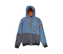House Men's Hooded Outer Jacket, Blue/Heather Gray