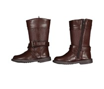 Laura Ashley Toddler Girl's Adjustable Closure Kisie Boots, Brown