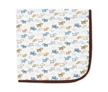 Little Me Infant Boys Cute Puppy Blanket, White Print