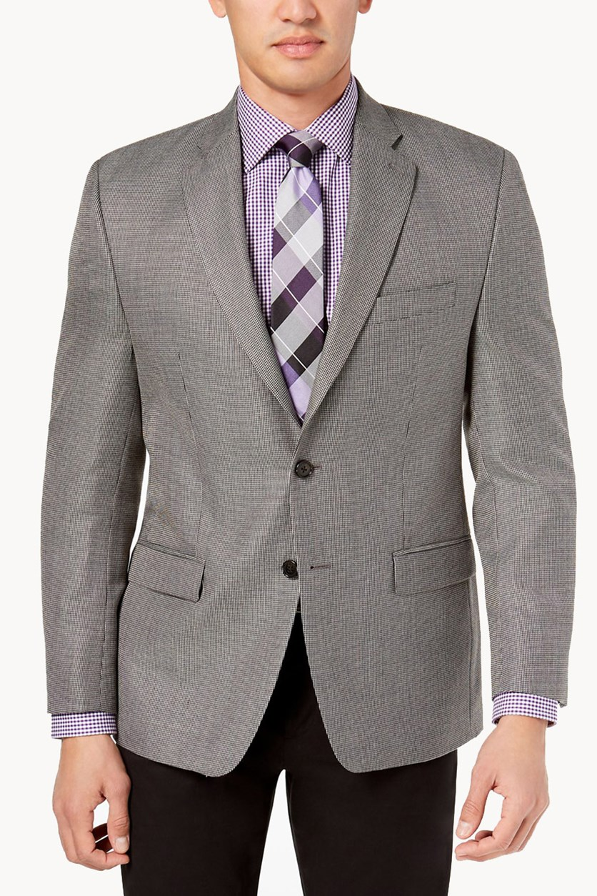 Men's Textured Coat, Grey