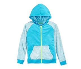 Layer 8 Girl's Colorblocked Hoodie,Blue