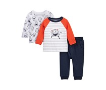 Little Me Monster 3-Piece Play Set Baby Boys, Navy Combo