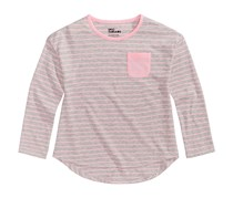 Toddler's Striped Shirt, Grey/Pink