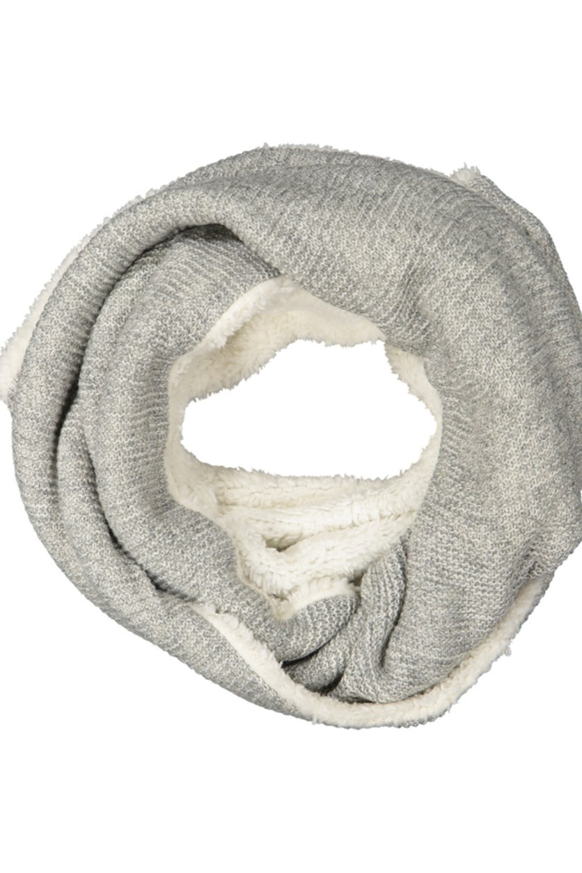 Men's Textured Scarf, Grey/White