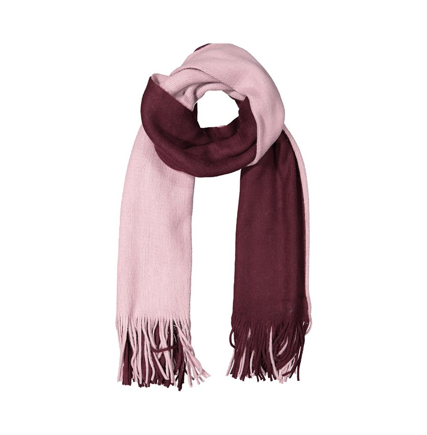 Women's Colorblocked Scarf, Lilac/Maroon