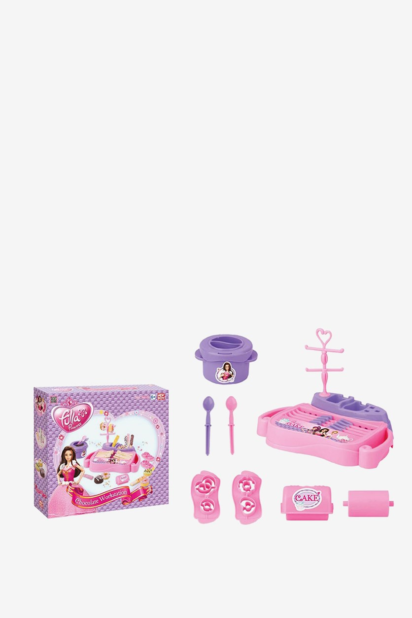 Fulla Princess Chocolate Workstation Toy, Pink/Purple