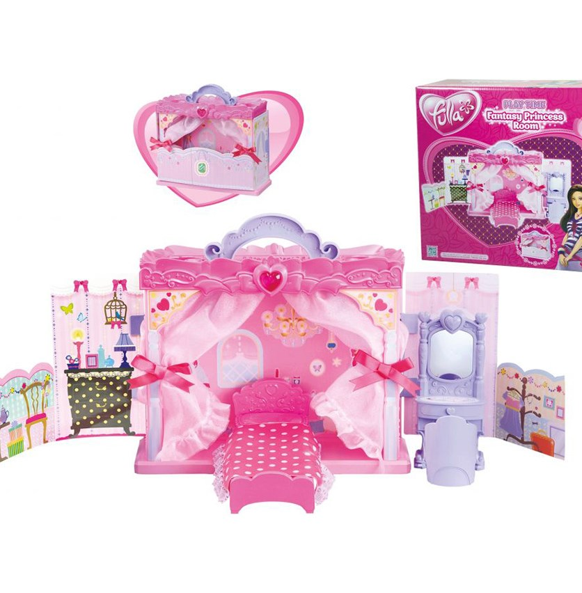 Fulla Play Time Fantasy Princess Room Pretend Play Toy, Pink