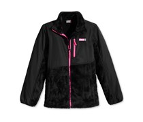 32 Degrees Toddler's Girl's Zip-Up Fleece Long Sleeve Jacket, Black