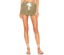Free People Legs For Days Soft Drawstring Short, Army Green