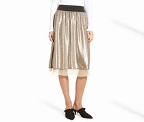 Sequined Skirt, Taupe