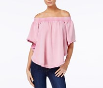 Free People Kiss Me Off-The-Shoulder Top, Pink